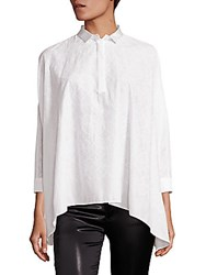 Giamba Daisy Cotton Shirt White