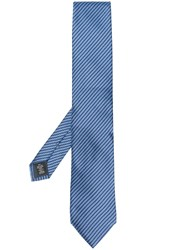 Ermenegildo Zegna Striped Pattern Tie Blue