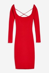 Wyldr Aileen Red Knitted Dress By Red Clay