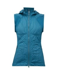 Adidas By Stella Mccartney Run Quilted Shell Gilet Blue