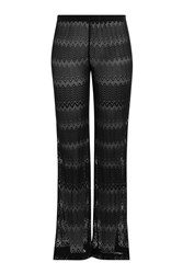Missoni Mare Wide Leg Crochet Knit Pants Black