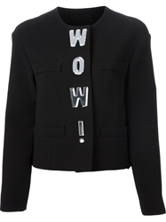 Moschino Cheap And Chic 'Wow ' Jacket Black
