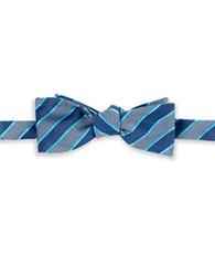 Vince Camuto Striped Bow Tie Blue