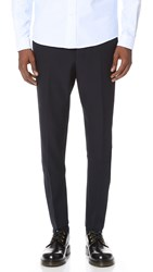 Ami Alexandre Mattiussi Carrot Fit Suit Trousers Navy