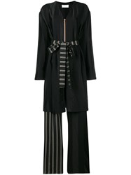 Esteban Cortazar Robe Like Long Playsuit Black