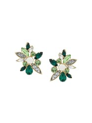 Shourouk Crystal Earrings Green
