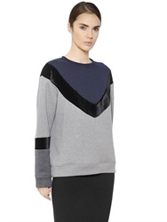 Sportmax Cotton Jersey And Velvet Sweatshirt