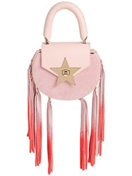 Salar Mimi Fringed Leather And Suede Bag