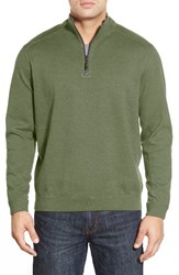 Tommy Bahama Men's Flip Side Reversible Quarter Zip Twill Pullover Perennial Heather