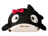Betsey Johnson Kitsch Whale Cosmetic Black Cosmetic Case