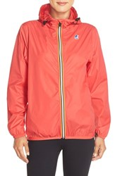 Women's K Way 'Le Vrai Claudette 3.0' Waterproof Raincoat Hibiscus