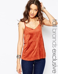 New Look Tall Suedette Cami Brown