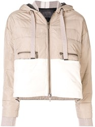 Lorena Antoniazzi Padded Contrast Jacket Neutrals