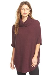 Women's Nordstrom Cashmere Turtleneck Sweater Burgundy Burgundy Stem