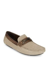 Kenneth Cole Reaction Slip On Leather Loafers Grey