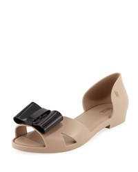 Melissa Seduction D'orsay Bow Flat Brown Black