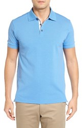 Bobby Jones Men's Solid Pique Golf Polo Sky Blue