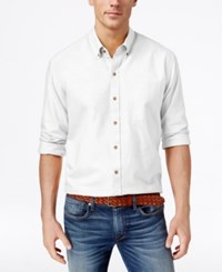 Cutter And Buck Men's Big And Tall Solid Oxford Long Sleeve Shirt White