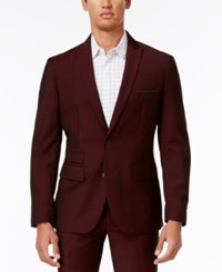 Inc International Concepts Men's Slim Fit Burgundy Blazer Only At Macy's