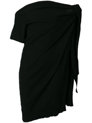 Maison Martin Margiela Mm6 Asymmetric Off Shoulder Dress Black