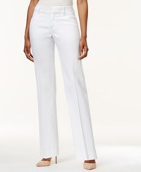 Lee Platinum Petite Madelyn Straight Leg Trousers Created For Macy's White