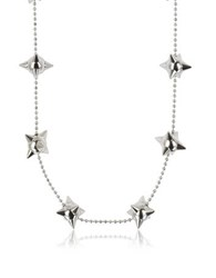 Dsquared2 Pierce Me Palladium Plated Metal Spiked Chain Necklace Silver