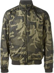 Woolrich Camouflage Reversible Bomber Jacket Green