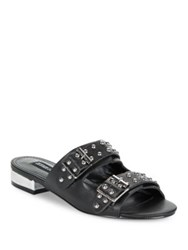 Design Lab Lord And Taylor Punk Studded Slip On Sandals Black