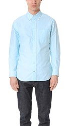 Gitman Brothers Vintage Long Sleeve Teal Oxford Shirt