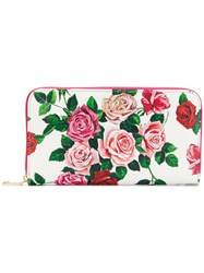 Dolce And Gabbana Rose Print Wallet Pink