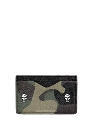 Alexander Mcqueen Camouflage Printed Leather Card Holder