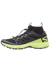 Salomon Xa Trail Running Shoes Black Lime Green Black
