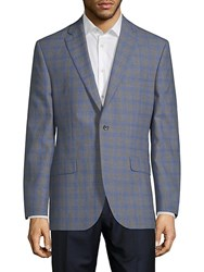Saks Fifth Avenue Red Conway Checkered Jacket Grey