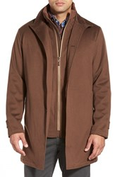 Men's Peter Millar 'Sebastian Loro Piana' Water Resistant Wool Car Coat With Removable Bib Vicuna