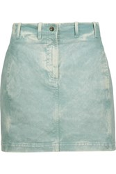 Roberto Cavalli Lace Up Denim Mini Skirt Light Denim