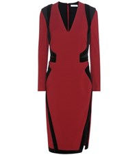 Altuzarra Becca Crepe And Velvet Dress Red
