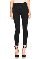 Mother Stunner Zip Ankle Step Fray In Black