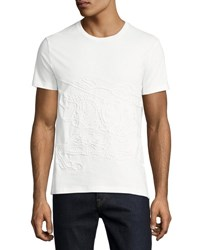 Burberry Embroidered Equestrian Knight T Shirt White