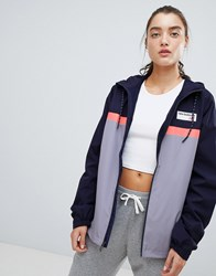 New Balance Colourblock Windbreaker Jacket In Lilac Purple