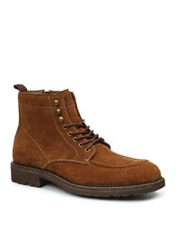 Bass Reston Suede Lace Up Boots Rust
