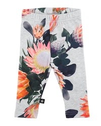 Molo Stefanie Floral Stretch Jersey Leggings Gray