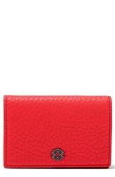 Dagne Dover Accordion Leather Card Case Red Poppy