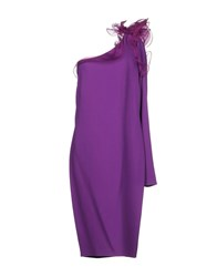 Gai Mattiolo Knee Length Dresses Mauve