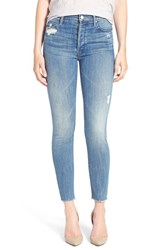 Mother Women's 'The Stunner' Frayed Ankle Skinny Jeans Graffiti Girl