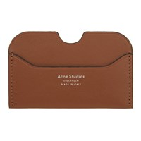 Acne Studios Brown Elma S Card Holder