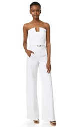 Black Halo Lena Jumpsuit White White