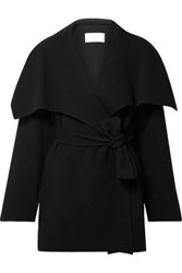 The Row Disa Oversized Wool Blend Felt Jacket Black