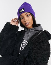 The North Face Dock Worker Recycled Beanie In Purple