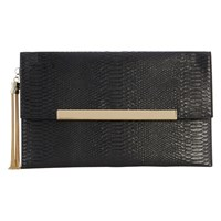 Coast Maya Snake Skin Clutch Bag Black