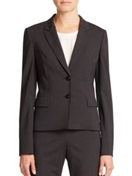 Boss Jilina Stretch Wool Blazer Charcoal